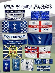 Fly Your Flags | Tottenham Hotspur Football Club World Football, Football Team, Football Posters, Tottenham Hotspur Players, Tottenham Hotspur Football, Image Foot, Spurs Fans, White Hart Lane, Sports Stadium
