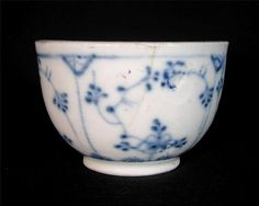 C.1800 Blue And White Porcelain Tea Bowl, Prob. Copenhagen Pottery #Bowls