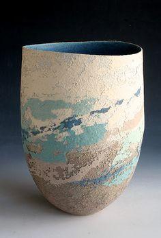Ceramics by Clare Conrad at Studiopottery.co.uk - 2012. Vessel, 30cm high