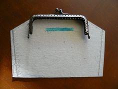 Patrón bolso boquilla cuadrada vintage | Monederos | Pinterest
