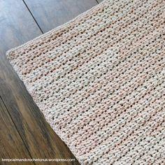 Block 1 - Gauge Block Keep Calm and Crochet On UK  Stitch Story CAL