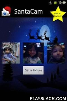 """Santa Cam Free  Android App - playslack.com ,  SantaCam magically adds hats, beards and other stickers to all of the people in your photos. Your photos are processed while your phone is charging and SantaCam will alert you when pictures with faces have been found.★★★★★ """"Loved it my uncle never looked so devilish!""""★★★★★ """"So much more fun then i expected <3""""Choose from one of the following cameras,Angels and Demons CamRabbit CamNew Year's CamPirate CamSanta CamShare your photos using email…"""