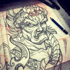 Fudo Myoo art custom tattoos Instagram: @mike_tattoo Toronto tattoos Red9ine tattoos