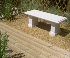 Chilstone garden bench featured on our Kent show gardens.