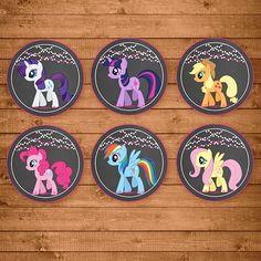 My Little Pony Cupcake Toppers Chalkboard por NineLivesNotEnough