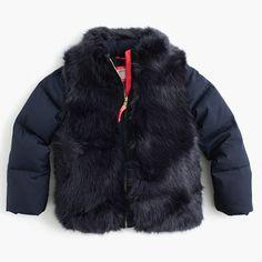 J.Crew - Girls' furry puffer