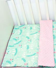 """Kolekcja """"Zające na mięcie"""" wykonana z najwyższej jakości bawełny premium oraz oryginalnego minky Shannon Fabrics."""