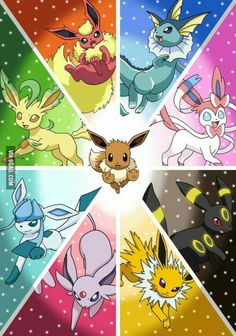 Evee's Evolutions... Which one is your favourite?