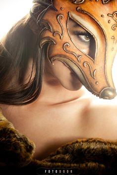Fantasy Masks, Fox Mask, Masquerade, costumer    Inside the Goblin Art Studio