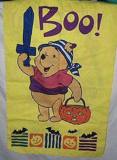 Disney Winnie the Pooh Tigger Dress Up Costume Halloween Garden Yard Flag 20x 30