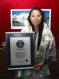 Nepalese woman mountaineer Chhurim has been recognized fro climbing Mount Everest twice in the same climbing season. She's 29.