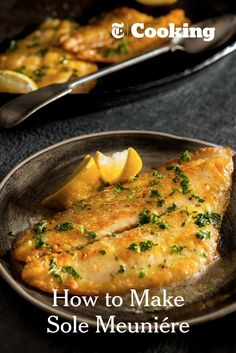 """Here is the dish that made Julia Child fall in love with French cuisine: delicate fish fillets, lightly sautéed and covered with browned butter. She declared her first bite """"a morsel of perfection."""" Once you have had sole meunière, you will see why. (Photo: Francesco Tonelli for NYT)"""