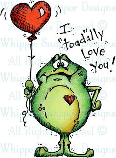 """I """"Toad""""ally Love You - Frogs - Animals - Rubber Stamps - Shop"""