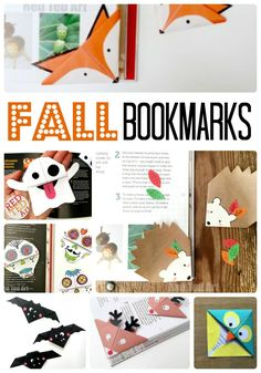 Fall Corner Bookmark Ideas for Kids! We love fall and all the fabulous colours, themes and animals that come with Fall DIYs. As we also adore our Corner Bookmarks, we bring these together to bring you our favourite Fall Bookmark ideas - from the cutest Hedgehog Bookmark, to Day of the Dead designs. Let's get reading this Fall!