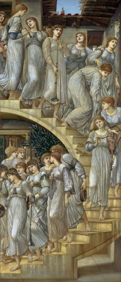 Edward Burne-Jones The Golden Stairs painting for sale, this painting is available as handmade reproduction. Shop for Edward Burne-Jones The Golden Stairs painting and frame at a discount of off. Pierre Auguste Renoir, William Morris, Jenny Morris, William Blake, Pre Raphaelite Paintings, John Everett Millais, Pre Raphaelite Brotherhood, Edward Burne Jones, Dante Gabriel Rossetti
