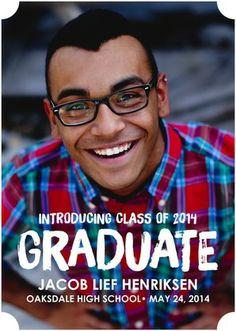 Graduate Intro - Graduation Announcements - Jill Smith for Tiny Prints features a bold white font. #graduation