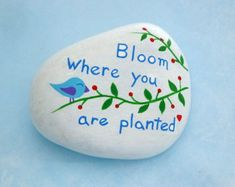 Best painted rock art ideas with quotes you can do (75)