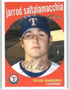 2008 Topps Heritage #318 Jarrod Saltalamacchia - Texas Rangers (Baseball Cards) by Topps Heritage. $0.88. 2008 Topps Heritage #318 Jarrod Saltalamacchia - Texas Rangers (Baseball Cards)