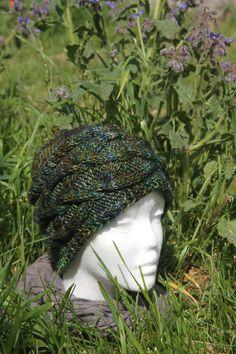 Bonnet Vert à torsades tricoté main de la boutique CedrikOttemin sur Etsy