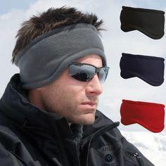 0abaaba3c44 Fleece headband warm hat ear muff  warmer winter ski  snowboard mens  womens  ladi