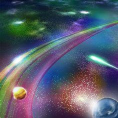 [DJ Y's] Club MAVERICK event SPACE/FLYER CG illust Northern Lights, Dj, Club, Space, Nature, Floor Space, Naturaleza, Nordic Lights, Aurora Borealis