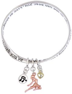Dance As Though No One is Watching You Inspirational Twist Mobius Charm Bangle Bracelet ** You can get additional details at the image link. (This is an affiliate link and I receive a commission for the sales)