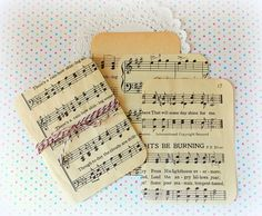 Vintage Project Life Journal Cards  Hymnal by vintagescrapshop, $3.00