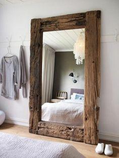 miroir contour bois