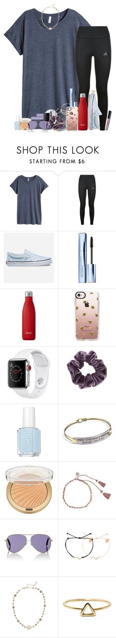 """""""Bad set but whatevs"""" by southernstruttin ❤ liked on Polyvore featuring H&M, adidas, Vans, Estée Lauder, S'well, Casetify, Apple, Topshop, Essie and Sweet Romance"""