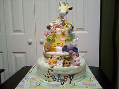 Jungle diaper cake by Jennifer Jones