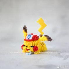 Perler Bead Pokemon Patterns, Pokemon Perler Beads, Diy Perler Beads, Perler Bead Art, Hamma Beads 3d, Pearler Beads, 3d Figures, Beaded Cross Stitch, Beading Patterns