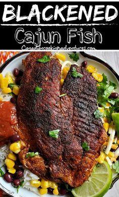 Cajun Catfish Recipe, Catfish Recipes, Tilapia Recipes, Baked Catfish, Salmon Recipes, Best Seafood Recipes, Cajun Recipes, Cooking Recipes, Haitian Recipes