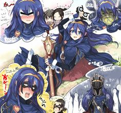 Lucina trying on different masks