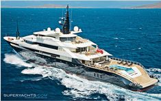 The 81.27m Alfa Nero Yacht Oceanco motor yacht. Charter today.