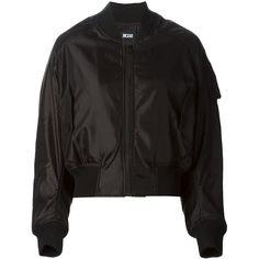 KTZ bomber jacket (424 CAD) ❤ liked on Polyvore featuring outerwear, jackets, bomber jacket, coats & jackets, black, kokon to zai, blouson jacket, flight jacket, black jacket and black flight jacket