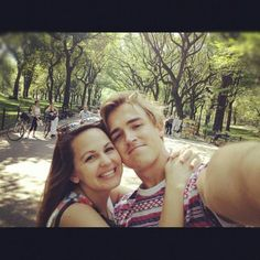 Giovanna and Tom Fletcher. selfie.