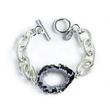 Luxe Agate Bracelet - Silver