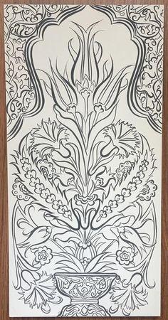 Islamic Motifs, Islamic Art Pattern, Pattern Art, Turkish Design, Turkish Art, Turkish Tiles, Glass Painting Designs, Paint Designs, Mughal Paintings