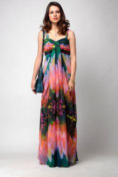 Bustier Garden Print Gown - Saje, California / Rs.9900