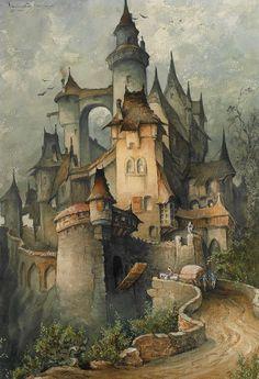 Medieval Fantasy Castle Art