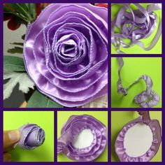 How to Make a Rosette with Wired Ribbon - Easy!