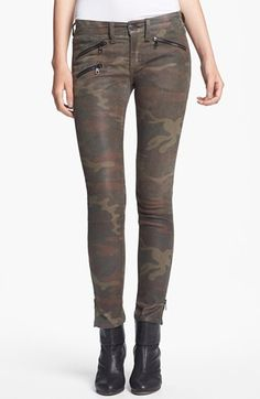 rag & bone Skinny Camo Print Leather Pants available at #Nordstrom