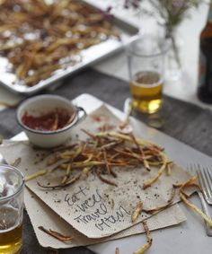 Rosemary-Garlic Fries With Maple Ketchup - Candice Kumai