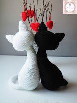 """Pattern Free Valentines Kittens """"Agatha and Argus"""" . Come to know us for our facebook  and website. Patrón gratis Gatitos San Valentín """"Agatha y Argus"""". Pasa a conocernos por nuestro facebook y sitio web. www.tarturumies.com https://www.facebook.com/Tarturumies"""