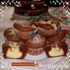 Boci muffin Donut Muffins, My Recipes, Cake Recipes, Cake Cookies, Cupcakes, Berry, Hungarian Recipes, Sweet Cakes, Winter Food