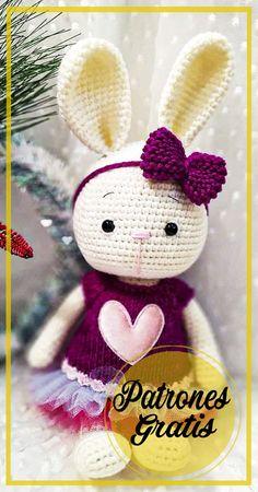 Crochet Baby Toys, Crochet Food, Crochet Geek, Easter Crochet, Crochet For Kids, Animal Knitting Patterns, Crochet Dolls Free Patterns, Stuffed Animal Patterns, Crochet Bunny Pattern