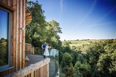 Such an awesome photo of one of our lovely couples standing on the floating deck of the Tree Top Escape :)