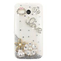 EVTECH(TM) 3D Handmade Crystal Imperial Crown Pearls Blossom Rhinestone Heart Diamond Bling Cover Hard Clear Case for Moto G (XT1031, XT1032, XT1033 //  Description Material: Placstic, Durable,cute,popular hard case cover. - Featured Craft: Wear sturdy ,realistic image, popular style,precise openings - Design: Hight quality rhinestone design make your phone shinning and special - Color: Show as th// read more >>> http://Helgeson358.iigogogo.tk/detail3.php?a=B00LO8RLEA