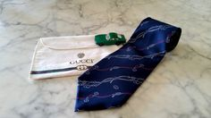 Authentic GUCCI Necktie, Made in Italy, 100% Silk Tie, Royal Blue and Includes…
