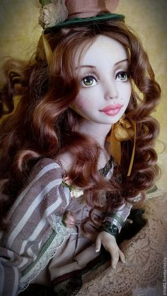 Collectible doll / Коллекционные куклы ручной работы. Ярмарка Мастеров - ручная работа. Купить Аделина. Handmade. Коричневый, интерьерная кукла